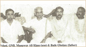 Palani, GNB, Munawar Ali Khan (Son) & Bade Ghulam Ali Khan(Father)